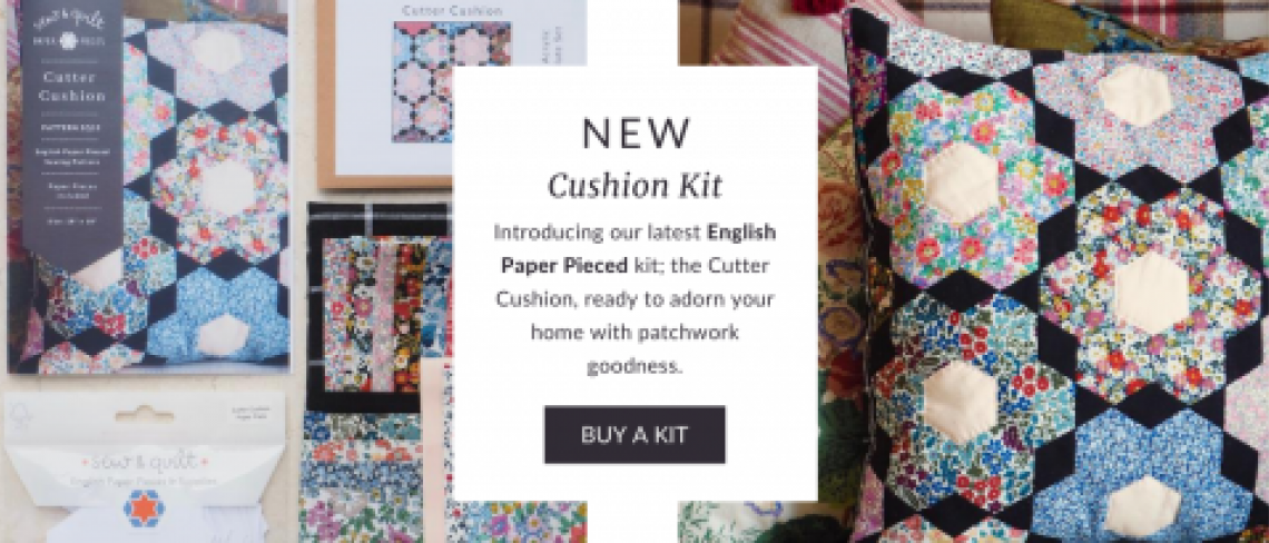 Cutter Cushion pattern and kit