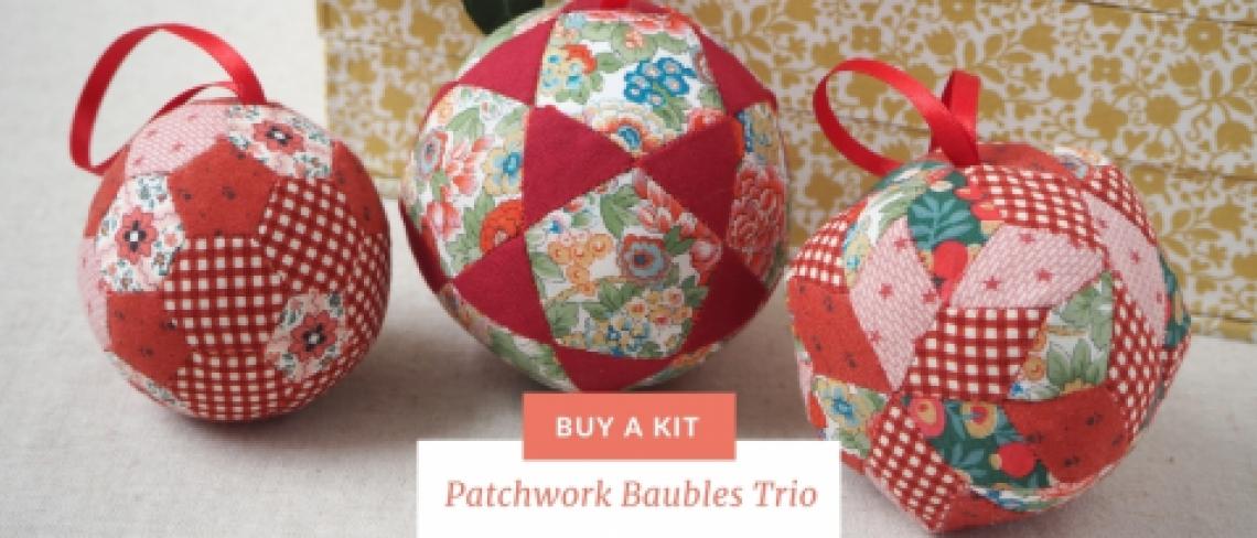 Patchwork Baubles Trio