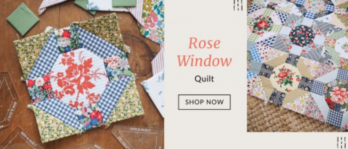 Rose Window English Paper Pieced quilt pattern