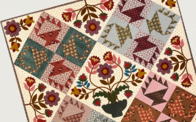 Sew and quilt english paper piecing liberty fabric quilting