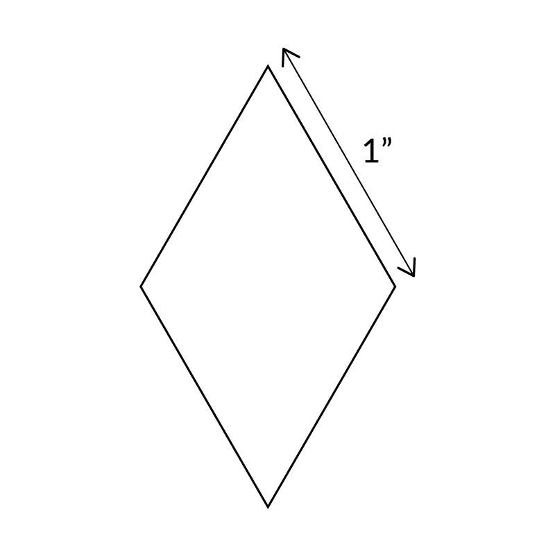 "1""-6-Point-Diamond-English-Paper-Pieces"