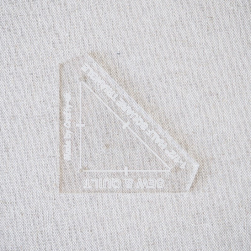 "Acrylic Cutting Template 1-1/2"" Half Square Triangle"