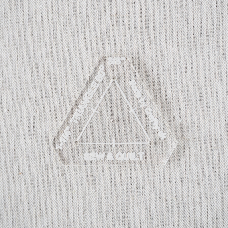 "Acrylic Cutting Template 1-1/4"" Equilateral Triangle"
