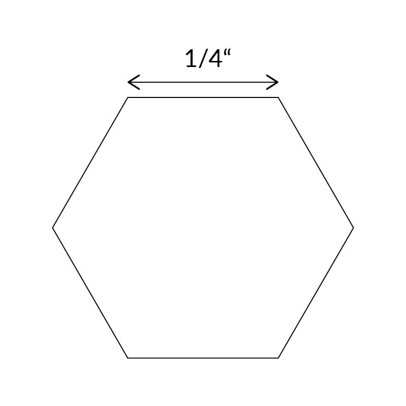 1-quarter-inch-hexagon-paper-piece-template-uk