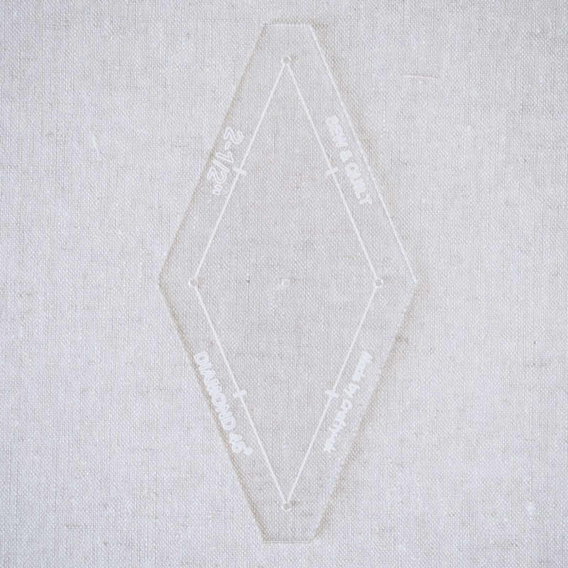 "Acrylic Cutting Template 2-1/2"" 8-Point Diamond"