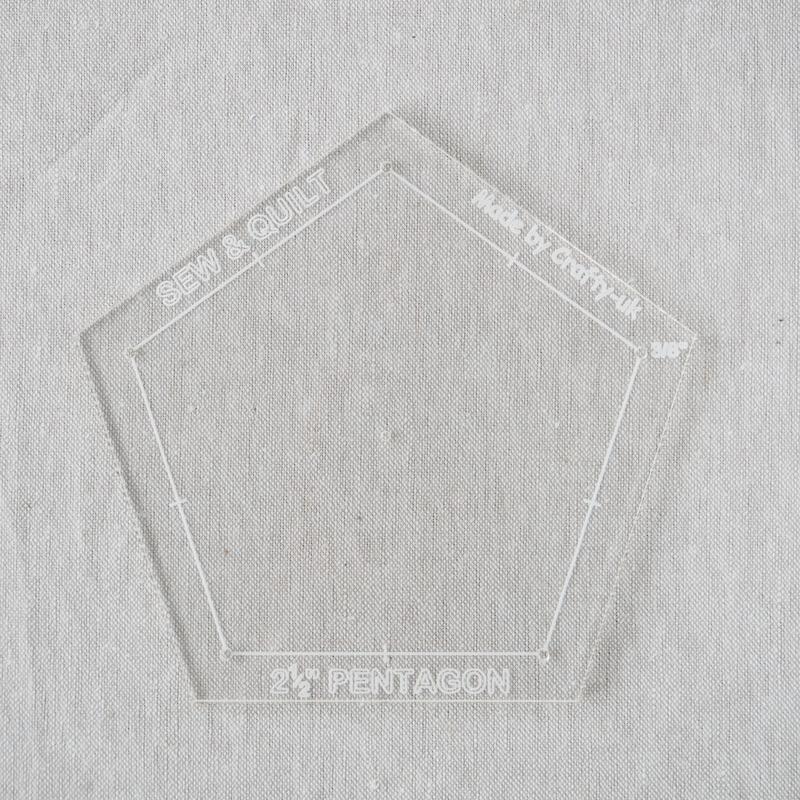 "Acrylic Cutting Template 2-1/2"" Pentagon"