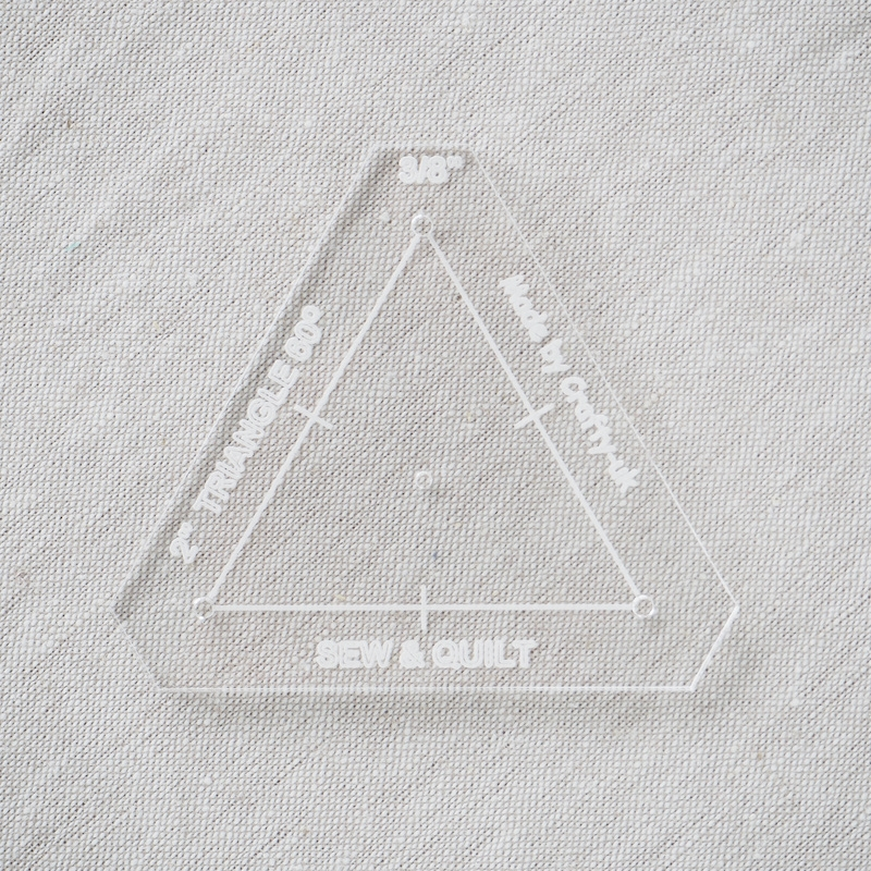"Acrylic Cutting Template 2"" Equilateral Triangle"