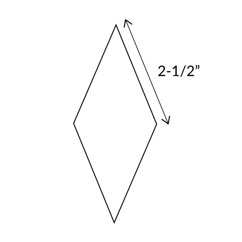 "2-1/2""-8-Point-Diamond-English-Paper-Pieces"