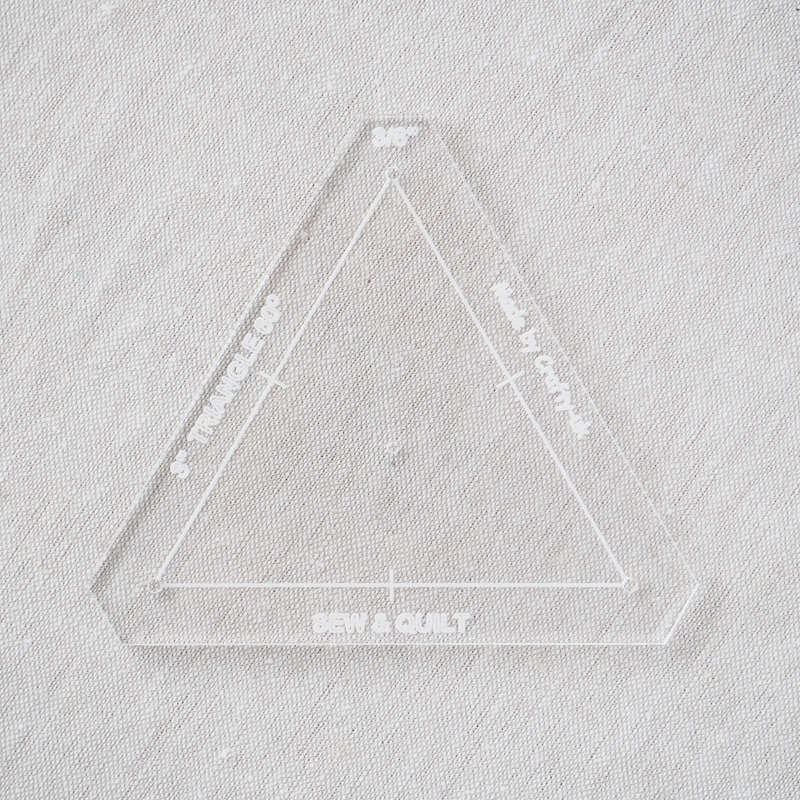 "Acrylic Cutting Template 3"" Equilateral Triangle"