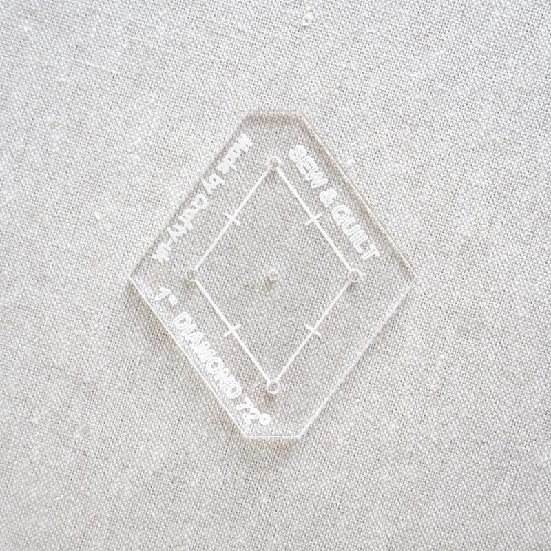 "Acrylic Cutting Template 1"" 5-Point Diamond"