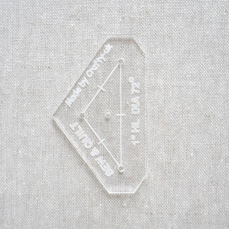 "Acrylic Cutting Template 1"" HL 5-Point Diamond"