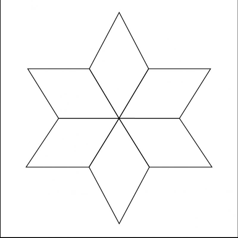 English Paper Pieces 1 Quot 6 Point Diamond Sew Amp Quilt