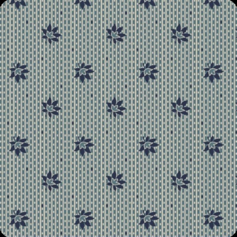 American-Swatch-Book-Blue-Leaf-Stripe
