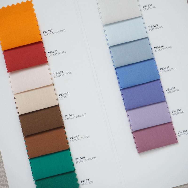 Supplementary AGF Pure Solids Colour Card