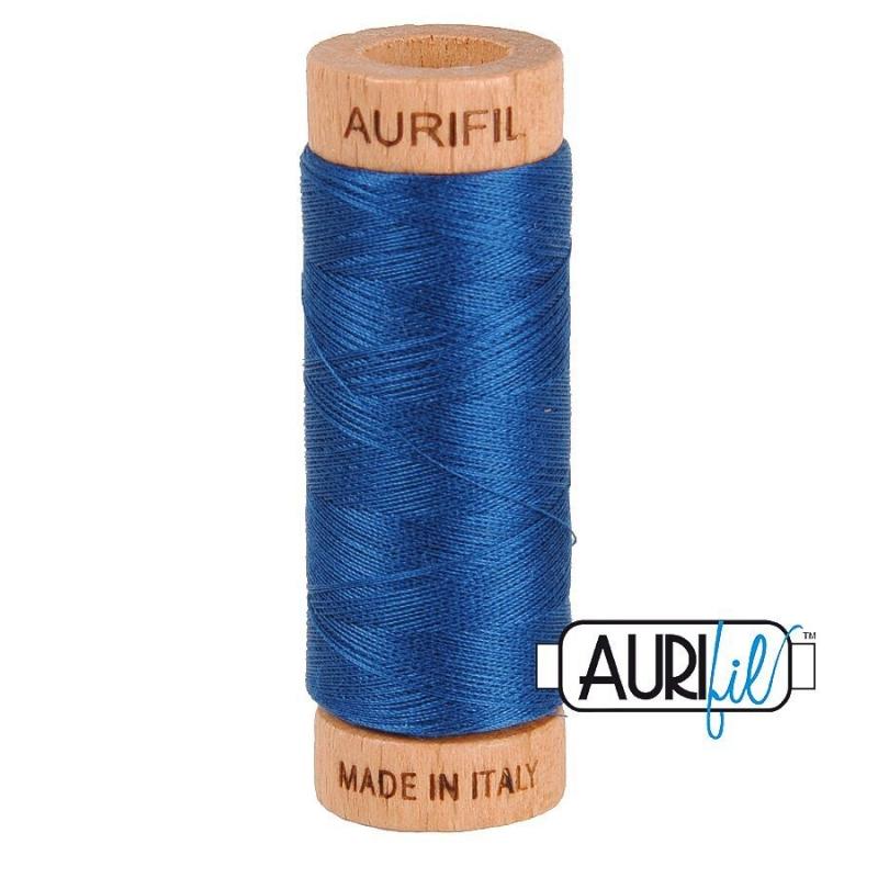 Aurifil 80wt Cotton Thread, Medium Delft Blue #2783