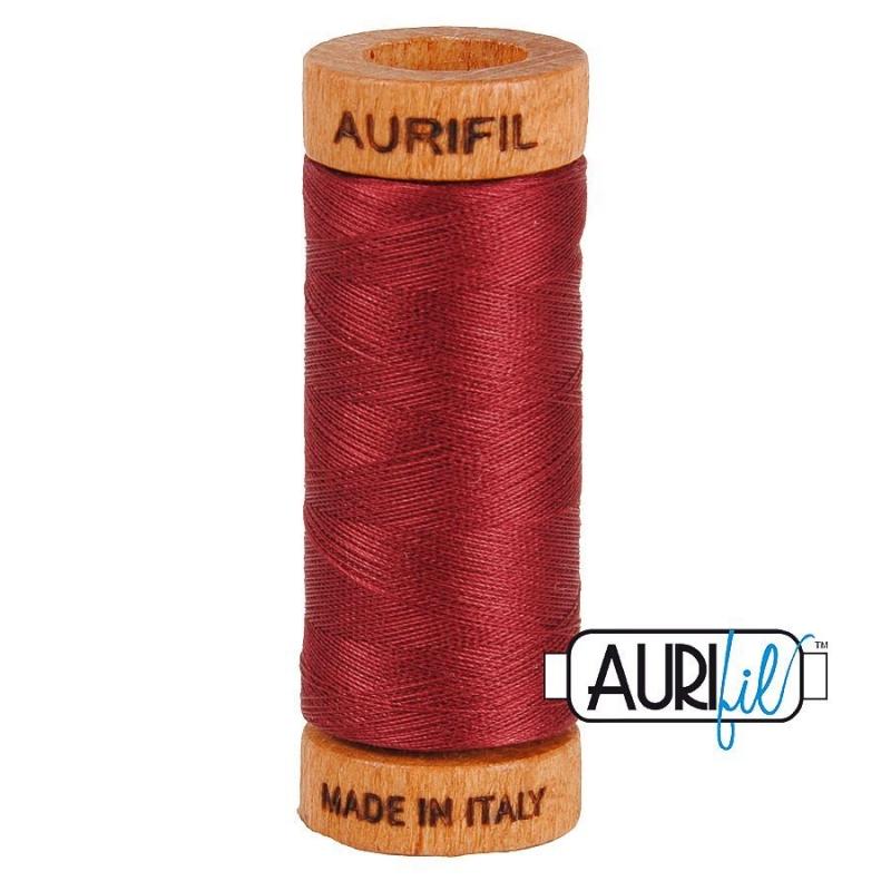 Aurifil 80wt Cotton Thread, Dark Carmine Red #2460