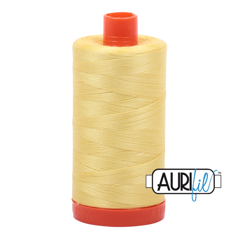 Aurifil 50wt Cotton Thead, Lemon #2115