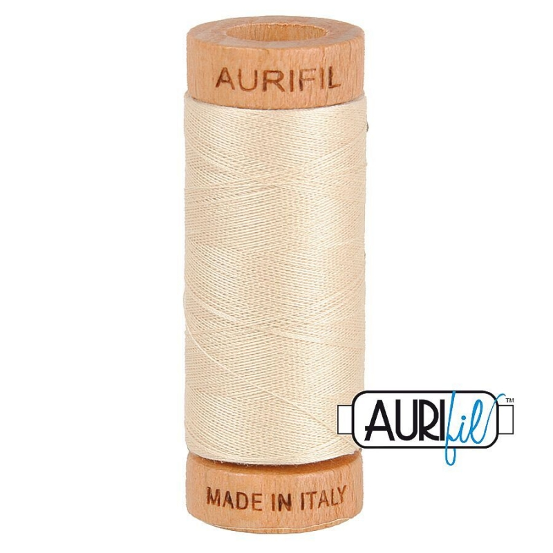 Aurifil 80wt Cotton Thread, Light Beige #2310