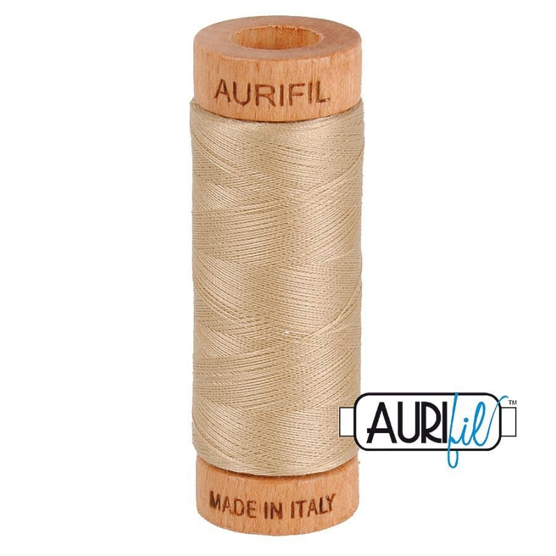 Aurifil 80wt Cotton Thread, Sand #2326