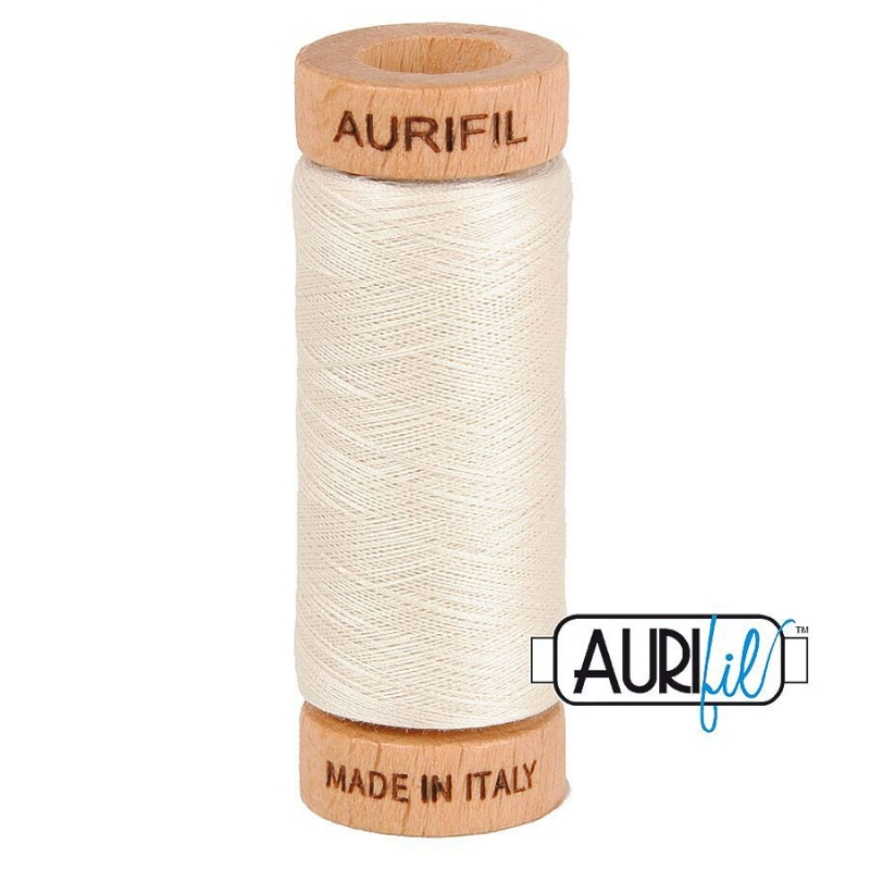 Aurifil 80wt Cotton Thread, Silver White #2309