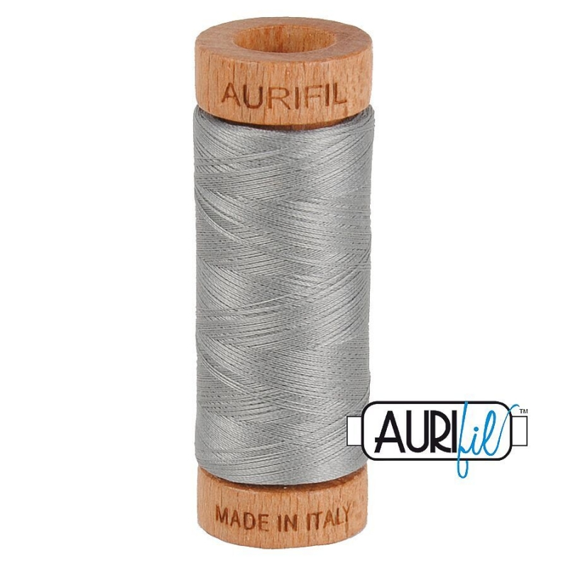 Aurifil 80wt CottonThread, Stainless Steel #2620
