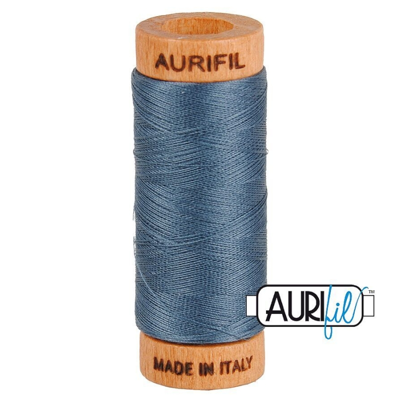 Aurifil 80wt Cotton Thread, Medium Grey #1158