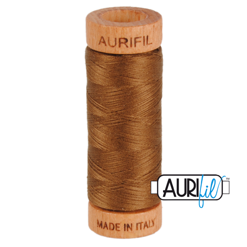 Aurifil-80-Cotton-Thread-2372-Dark-Antique-Gold