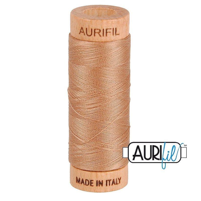 Aurifil 80wt Cafe Au Lait #2340 - 100% Cotton Thread