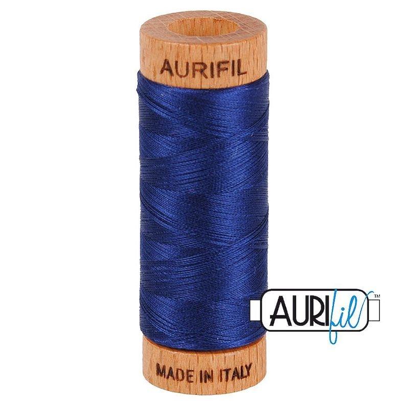 Aurifil 80wt Dark Navy #2784 - 100% Cotton Thread