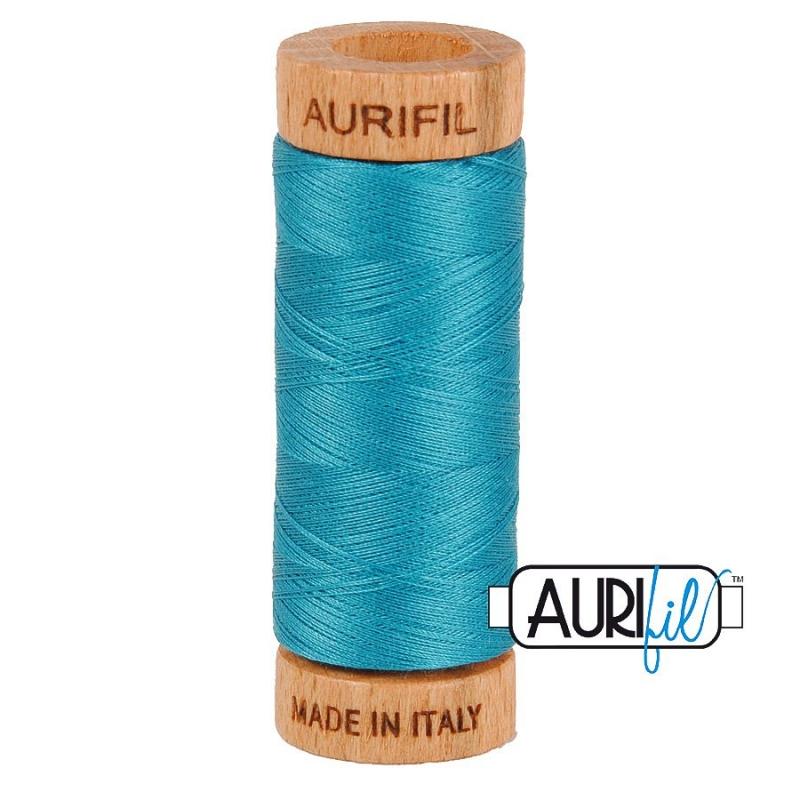 Aurifil 80wt Dark Turquoise #4182 - 100% Cotton Thread