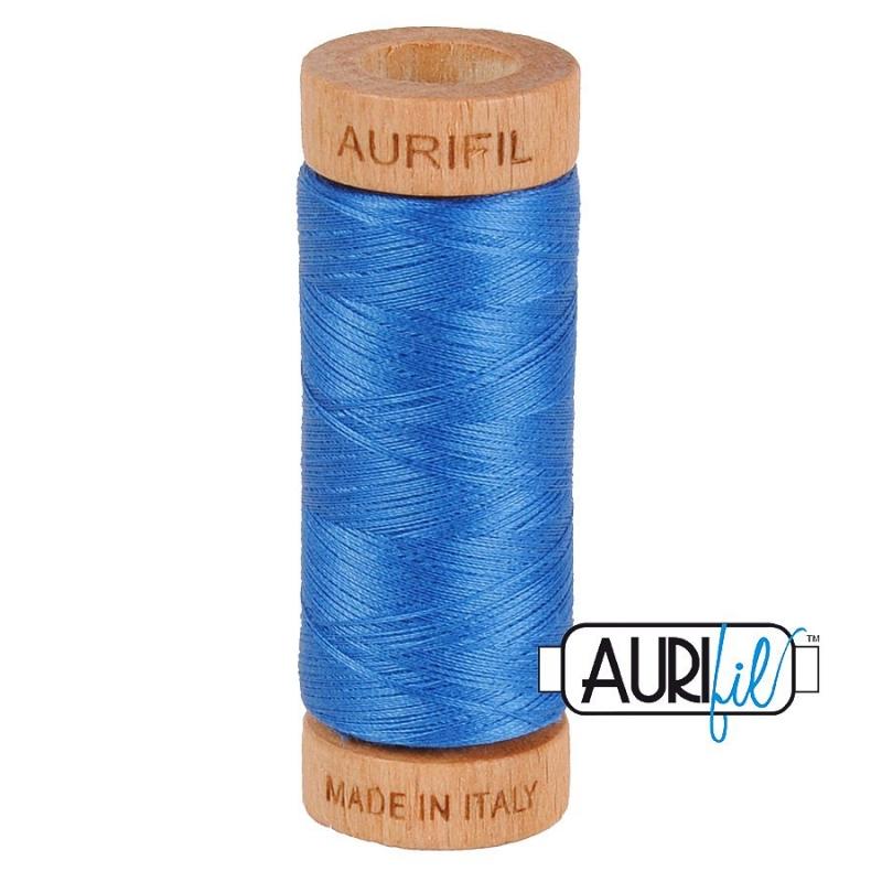 Aurifil 80wt Delft Blue #2730 - 100% Cotton Thread