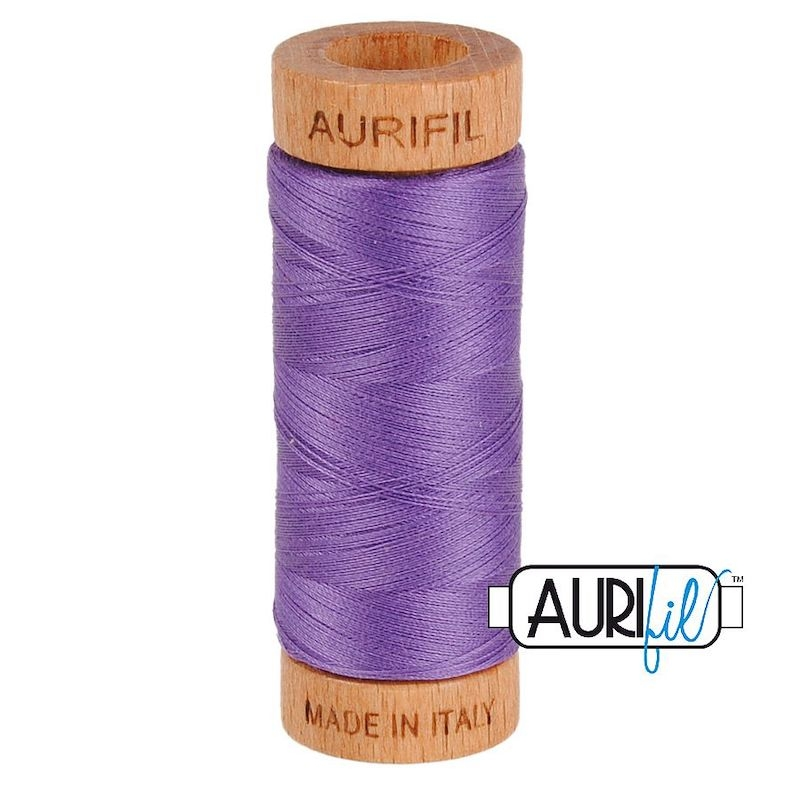 Aurifil 80wt Dusty Lavender #1243 - 100% Cotton Thread