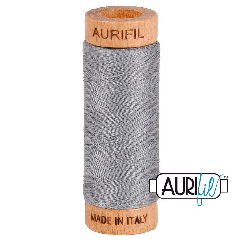 Aurifil 80wt Grey #2605, 100% Cotton Thread