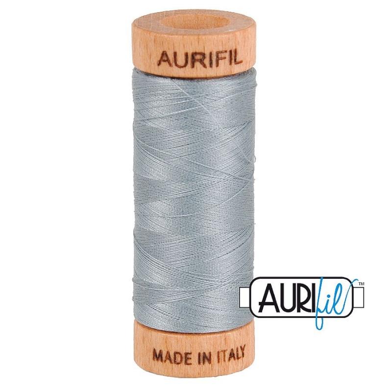 Aurifil 80wt Light Blue Grey #2610, 100% Cotton Thread