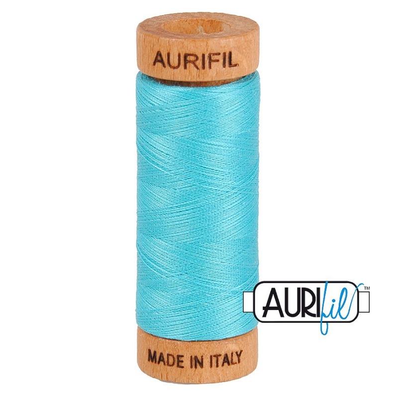 Aurifil 80wt Light Bright Turquoise #5005 - 100% Cotton Thread