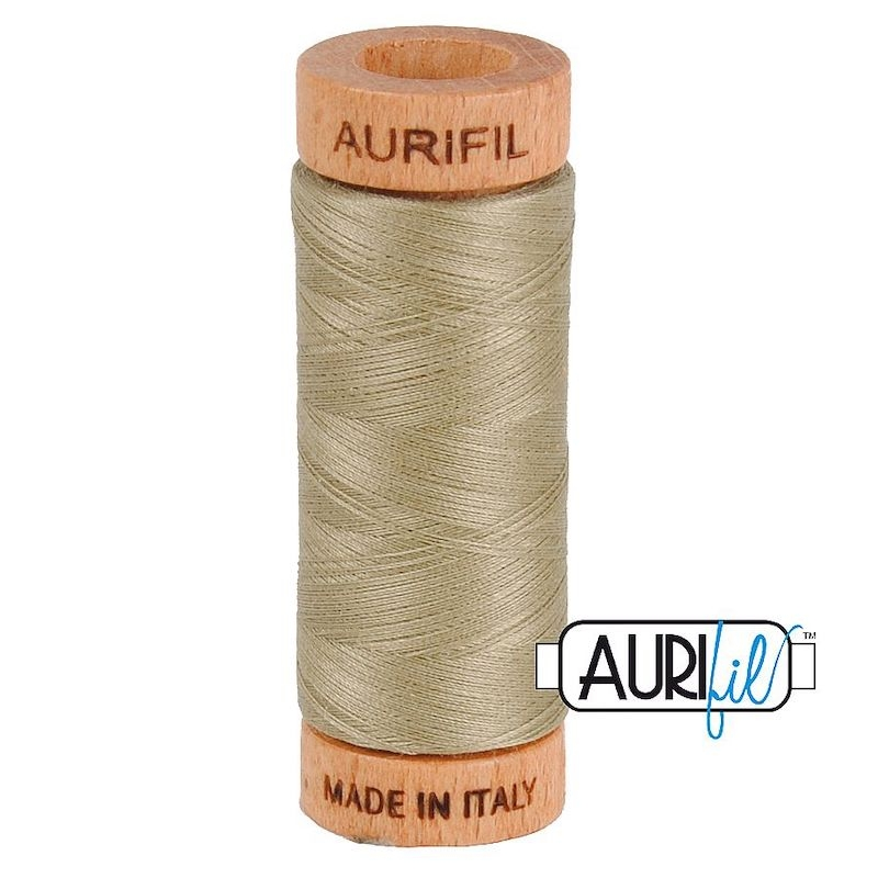 Aurifil 80wt Light Khaki Green #2900 - 100% Cotton Thread