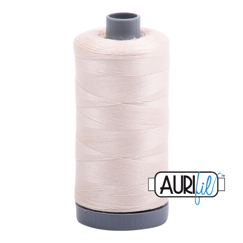 Aurifil 28wt Cotton Thread, Light Sand #2000
