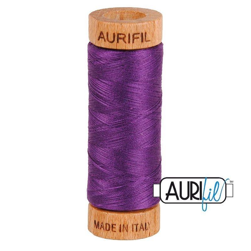 Aurifil 80wt Medium Purple #2545 - 100% Cotton Thread
