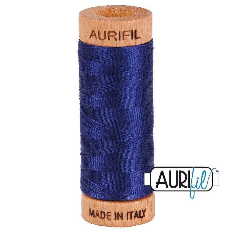 Aurifil 80wt Midnight #2745 - 100% Cotton Thread