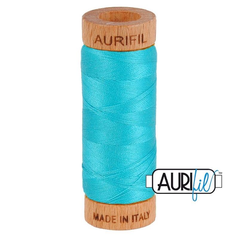 Aurifil 80wt Turquoise #2810 - 100% Cotton Thread