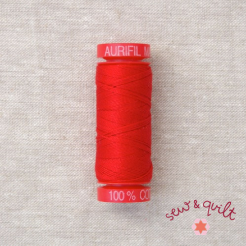 Aurifil-12WT-Cotton-Thread-Red-2250