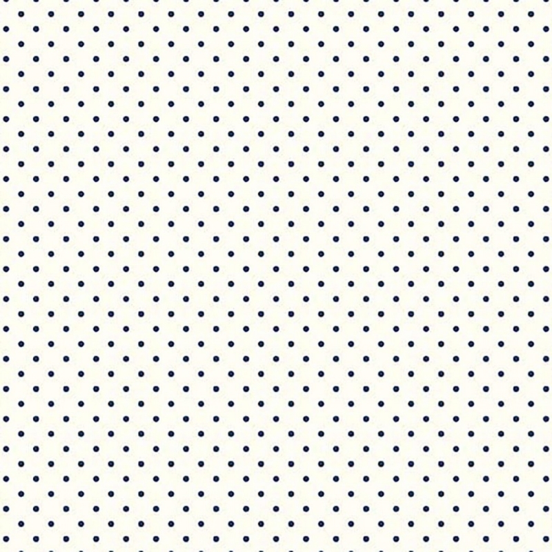 Le Creme Swiss Dot, Navy cotton quilting fabric
