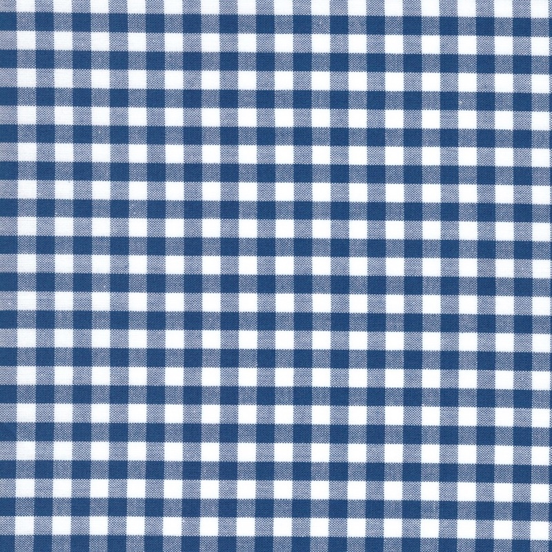 "Carolina Gingham royal blue and white 1/4"" check size quilting cotton"