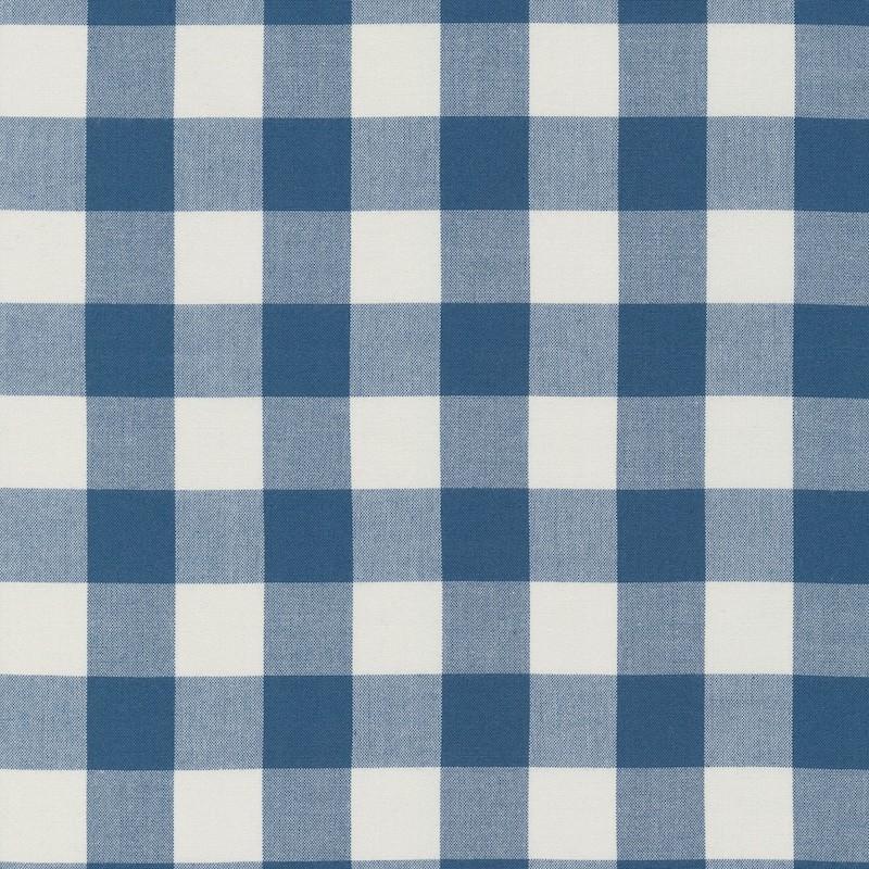 """Gingham 1"""" Denim cotton fabric"""