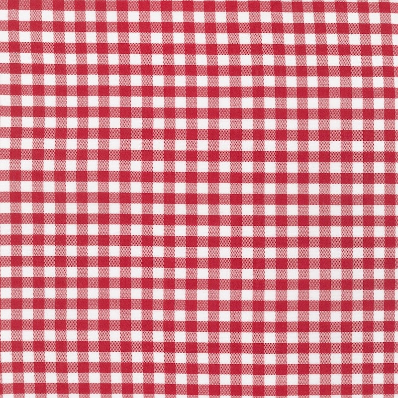"Carolina Gingham 1/4"" Crimson 