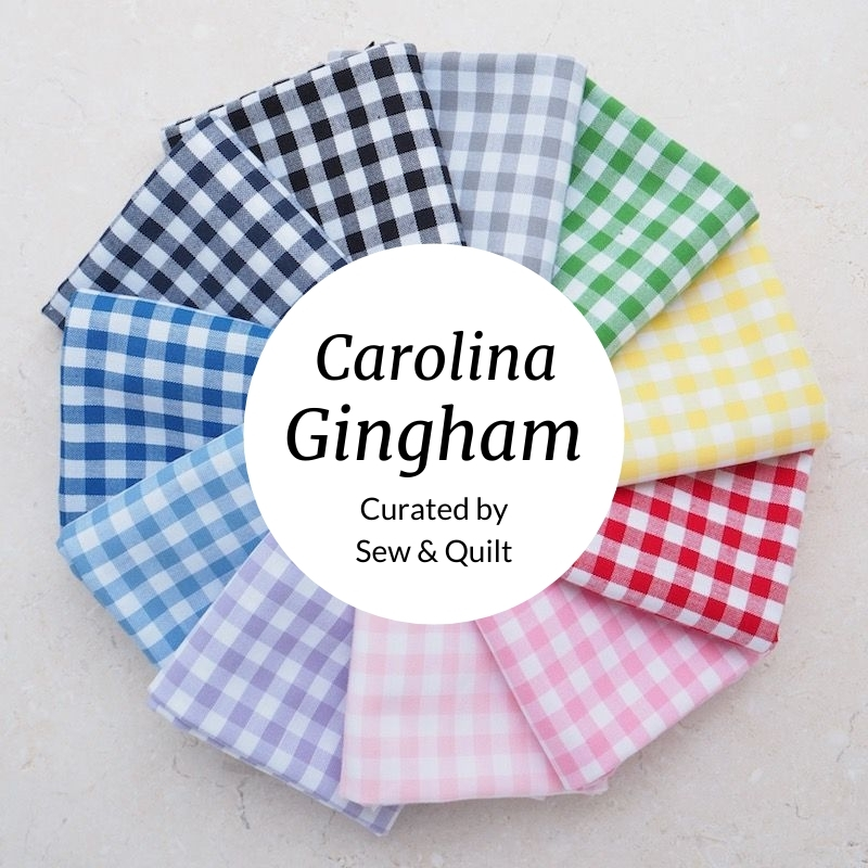 "Carolina Gingham 1/4"" Quilting Fat Quarter Bundle"