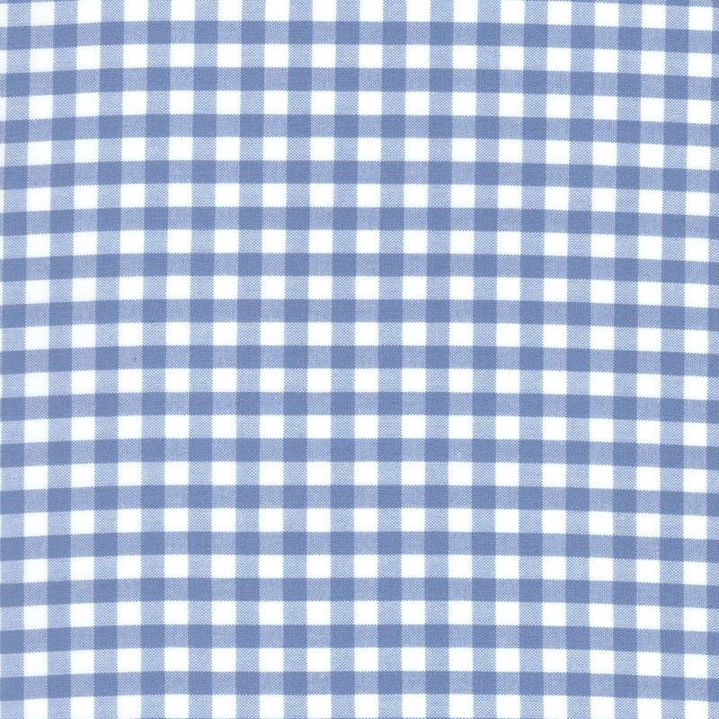 "Carolina Gingham cotton fabric 1/4"" Periwinkle 