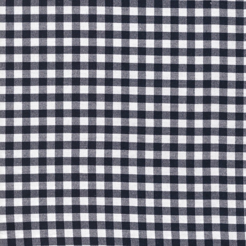 "Carolina Gingham cotton fabric 1/4"" Navy 6368-9"