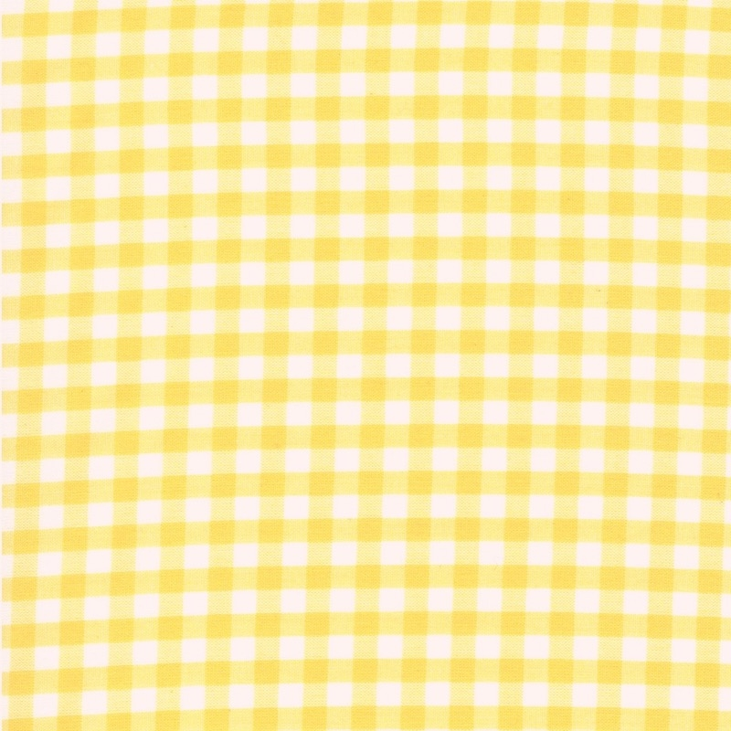 "Carolina Gingham cotton fabric 1/4"" Yellow 
