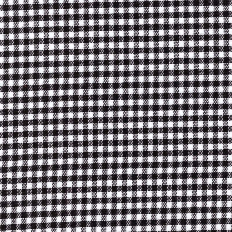 "Carolina Gingham black and white 1/8"" check size quilting cotton"